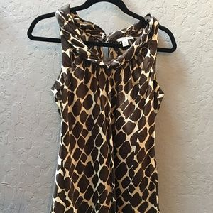 Banana Republic (Sz M) Giraffe print top